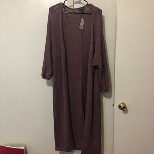 Forever 21 plus purple duster cardigan. Size 0x.